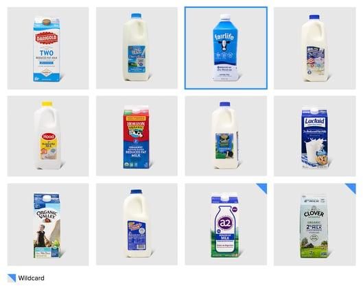 Attention-getting power: milk designs