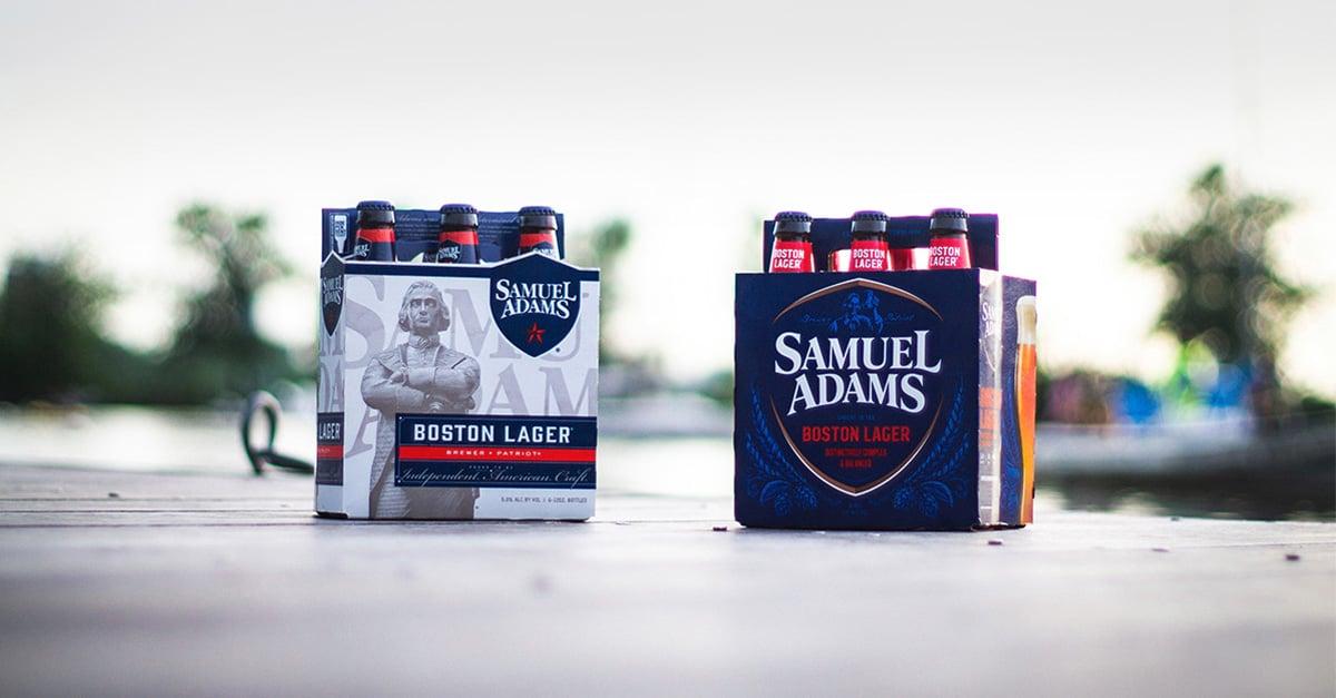 Samuel Adams Boston Lager package redesign